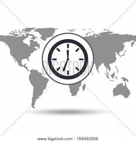 clock time social media world map vector illustration eps 10