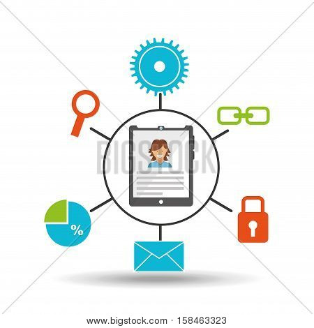 tablet technology social media concept vector illustration eps 10