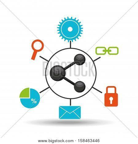 sharing symbol technology social media concept vector illustration eps 10