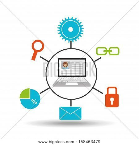 computer technology social media concept vector illustration eps 10