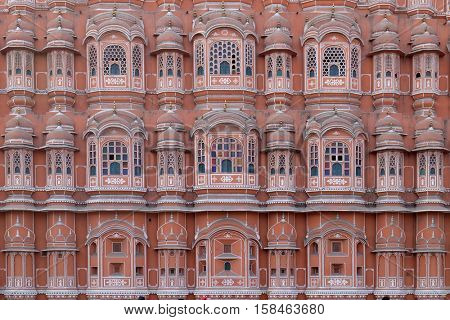 JAIPUR, INDIA - FEBRUARY 16 : Hawa Mahal, Winds Palace in Jaipur, Rajasthan, India. Jaipur is the capital and the largest city of Rajasthan on February 16, 2016.