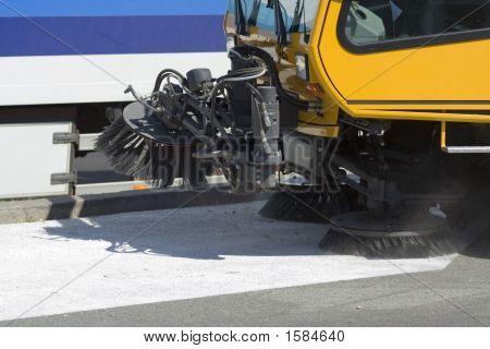 Street Sweeping Machine Detail