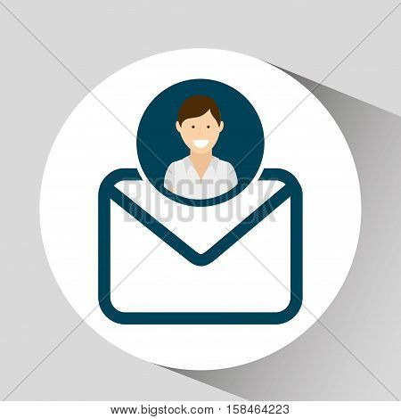 character email social media concept vector illustration eps 10