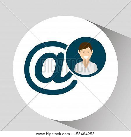 character mail social media concept vector illustration eps 10