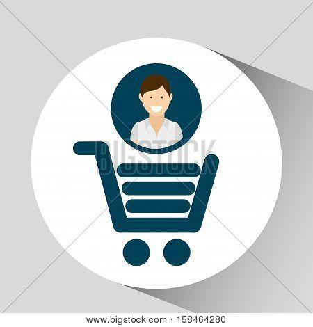 character shop cart social media concept vector illustration eps 10