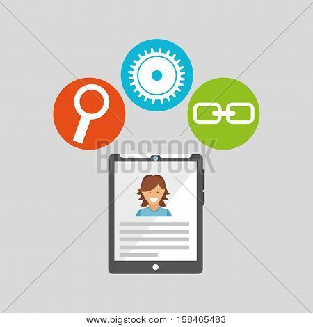 tablet technology social media concept vector illustration eps 10