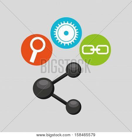 sharin symbol technology social media concept vector illustration eps 10