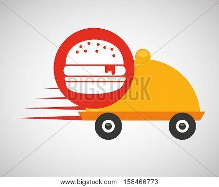 fast delivery food burger vector illustration eps 10