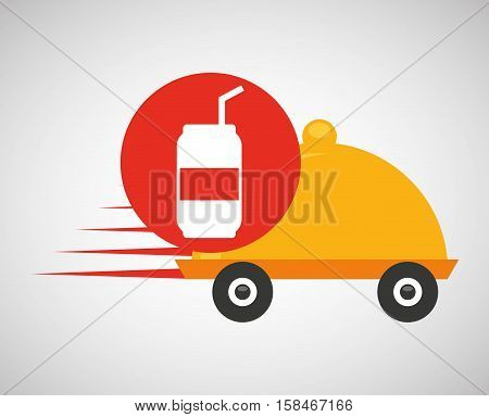 fast delivery soda drink vector illustration eps 10