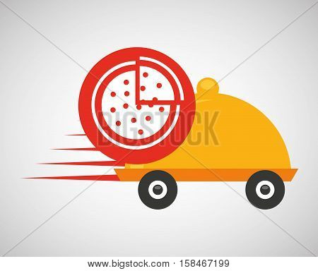fast delivery food pizza vector illustration eps 10
