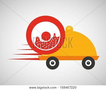 fast delivery food sweet donut vector illustration eps 10