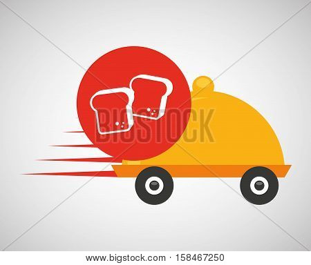 fast delivery food bakery icon vector illustration eps 10