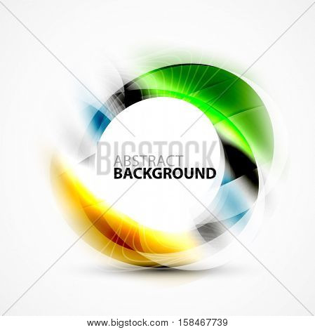 Modern shiny blurred swirl template, vector layout for message presentation