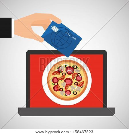 shopping online concept order pizza vector illustration eps 10