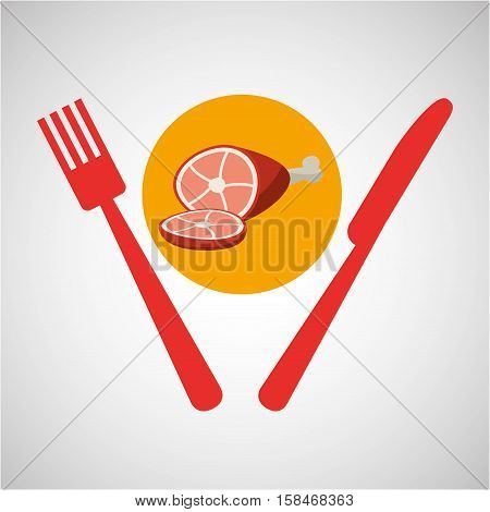 grill fast food concept grill chicken vector illustration eps 10