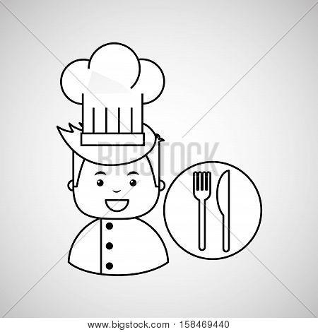 cartoon chef gourmet restaurant concept vector illustration eps 10