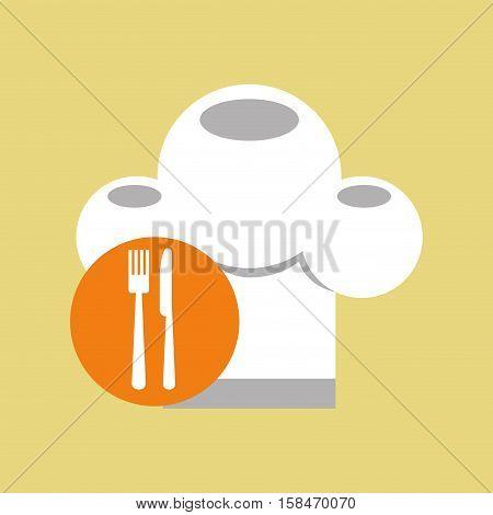 restaurant chef symbol icon vector illustration eps 10