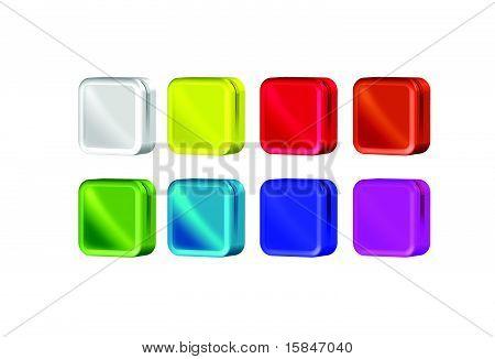 Square Color Box Icon Template