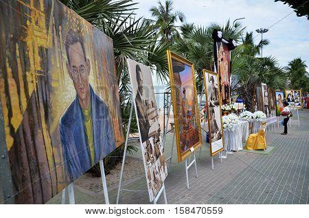 Memorial Of King Bhumibol Adulyadej In Pattaya