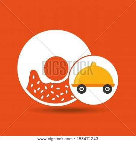 fast delivery food sweet donut vector illustration eps 10