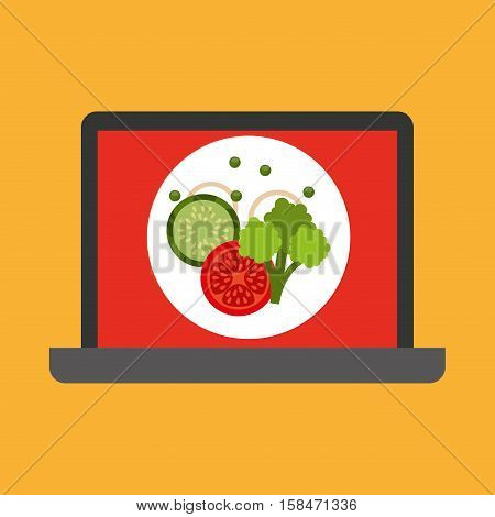 shopping online concept order vegetables vector illustration eps 10