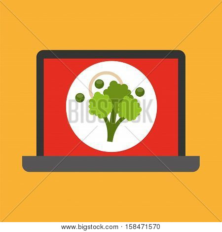 shopping online concept order broccoli vector illustration eps 10