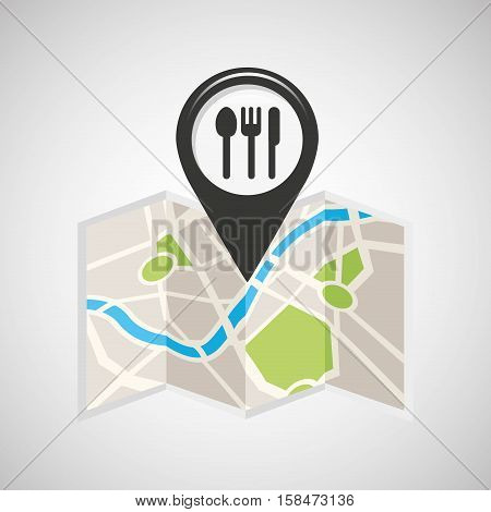 restaurant map pin pointer design vector illustration eps 10