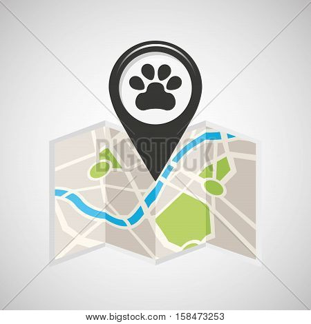 veterinary map pin pointer design vector illustration eps 10