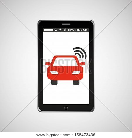 mobile phone navigation car location vector illustration eps 10