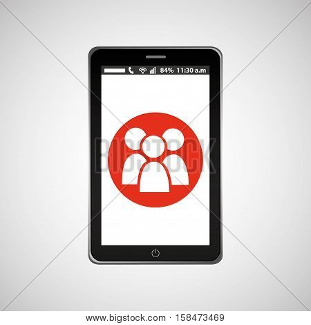 group mobile phone navigation vector illustration eps 10