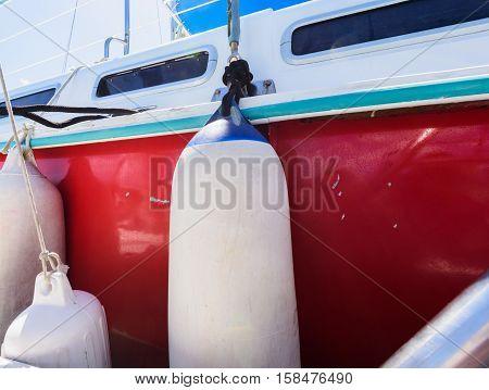 Fender Aboard Yacht Boat