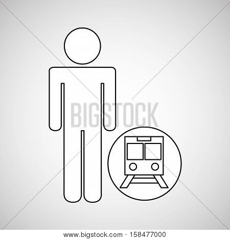 train station locate destination icon silhouette man vector illustration eps 10