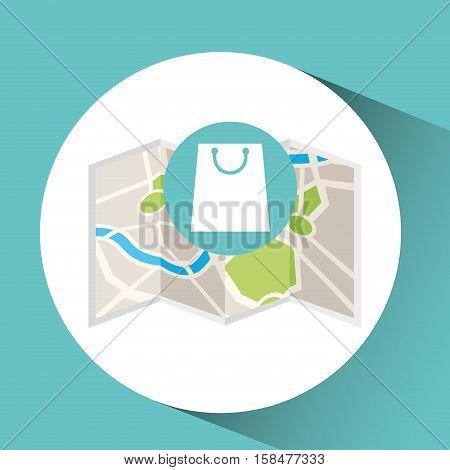 shop store map pin pointer design vector illustration eps 10