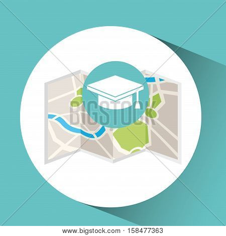 college map pin pointer design vector illustration eps 10