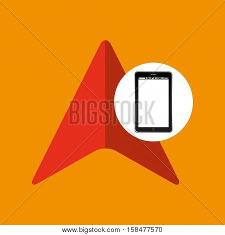 cursor mobile phone navigation vector illustration eps 10