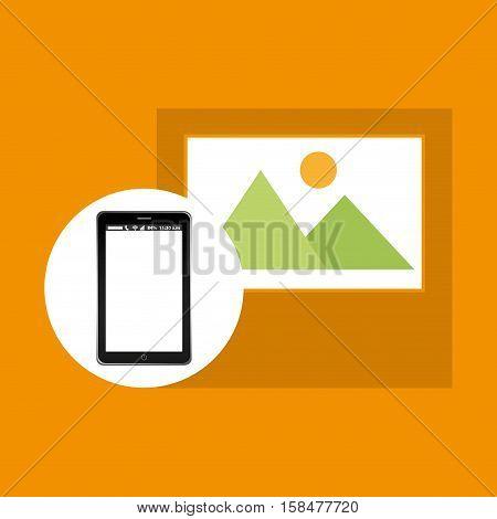picture mobile phone navigation vector illustration eps 10