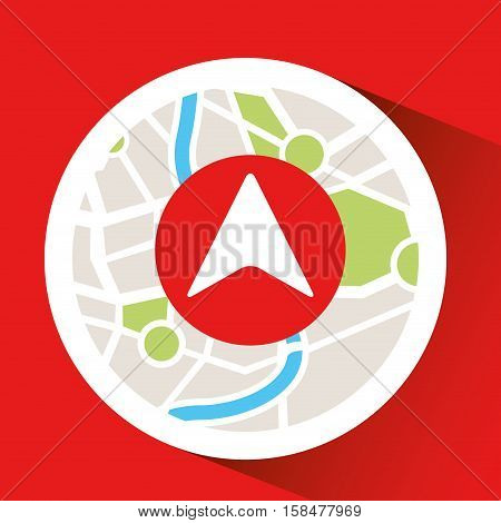 laptop map gps cursor vector illustration eps 10