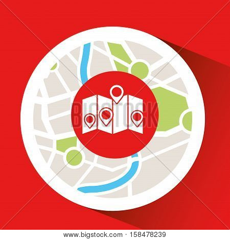 laptop map gps pointers vector illustration eps 10