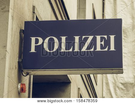 Vintage Looking Polizai Police Sign
