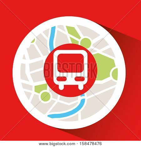 train laptop map gps vector illustration eps 10