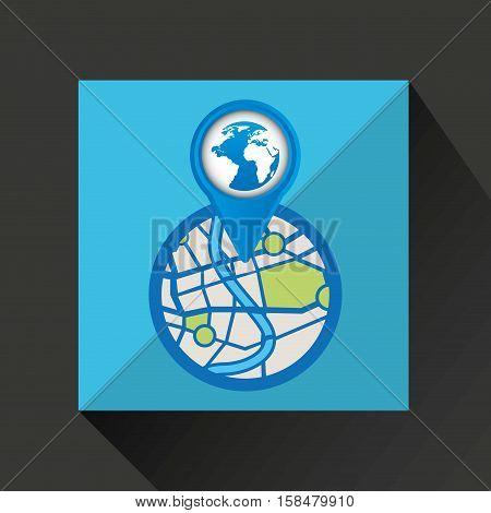 mobile device glove gps map vector illustration eps 10