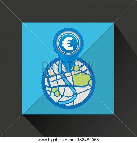 mobile device europe gps map vector illustration eps 10