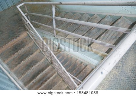 the old stairway to 2nd floor .