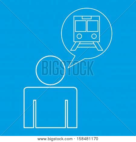 train station locate destination icon silhouette man vector illustration eps 10