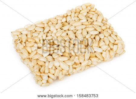 Brick Of Puffed Rice Isolated On White