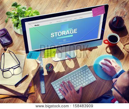 Data Storage Sync Technology Concept