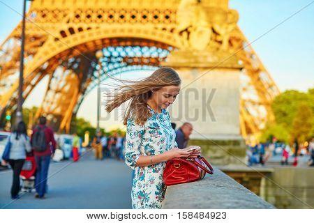 Young Beautiful And Elegant Parisian Woman