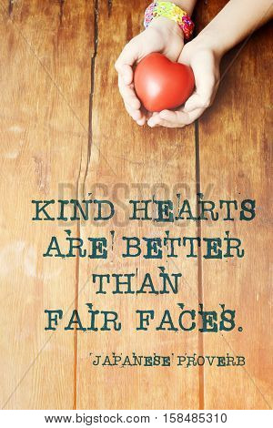 Kind Hearts Proverb