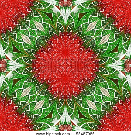 Beautiful flower pattern in stained-glass window style. You can use it for invitations notebook covers phone cases postcards cards wallpapers and so on. Artwork for creative design.
