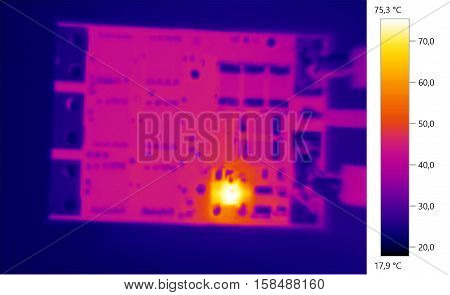 Thermal image photo circuit electronic color scale